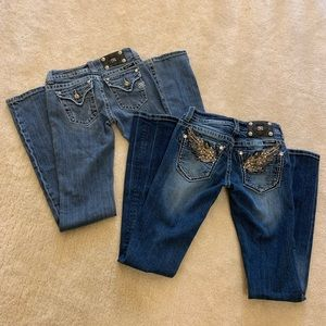 BUNDLE! Miss me bootcut jeans Size 26 and 25